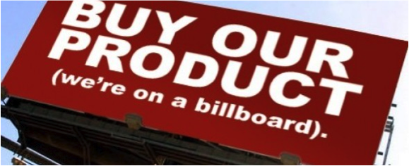 Buy our product bill board ad